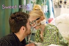 Sweet Kiss (ambubag) Tags: intubated intubation blonde cute girl nerdy ventilator ventilated glasses secured breathing tube breathingtube kissing sweet kiss