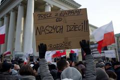 (Aleksander Kalka Photographiti) Tags: warsaw warszawa varsavia anti lgbt against conservative demonstration przeciw photojournalism nikon d3s