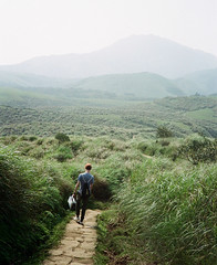 The Unexpected Journey (2) (kowei) Tags: green ontheroad trees mountains analog film filmcamera 35mm agfa boy taiwan 擎天崗 陽明山 nature
