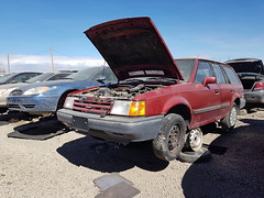 1989 Ford Escort station wagon (dave_7) Tags: 1989 ford escort stationwagon car wagon scrapyard junkyard