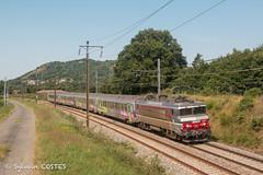 Le 14155 Toulouse - Bayonne remonte la vallée de la Garonne (Sylvain COSTES) Tags: bb7200 locomotive multiservice corail comminges fourc intercités toulouse bayonne railway train 7258