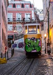 Lisbon Funicular (Bela Lindtner) Tags: lindtnerbéla belalindtner lisbon lisboaregion portugal pt nikon d7100 nikond7100 nikkor 18105 nikkor18105 nikon18105 lisboa lisszabon portugália tram funicular vehicle outdoor outside city