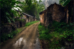 Rural Living (Darkelf Photography) Tags: rural village landscape overcast rain wet clouds moody yangshuo china guilin asia travel outdoors buildings culture foliage canon nisi 24105mm 5div maciek gornisiewicz darkelf photography 2018 ruralliving