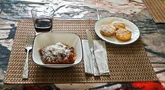 Homemade Zucchini Lasagna With Honey Nut Squash Tomato Sauce & Polenta Romano (❅❅❅Hunker Down Time!!!❅❅❅) Tags: odc anticipation lunch lasagne polenta food table diningroom gmofreeorganicfood