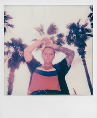 Day 046 (H o l l y.) Tags: polaroid 600 analog instant film square girl palm trees self portrait blonde fashion summer las vegas retro indie vintage blast exhibition reception went out with friends bday bash loads fun
