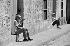 Pure cigar (Havana, Cuba) (Carlos Arriero) Tags: lahabana cuba carlosarriero fumando street streetphoto calle urban urbana havana people personas nikon d800e 70200mmf28 blackandwhite bw blancoynegro noiretblanc monochrome portrait retrato viajar travel centroamérica gentes wow awesome gorgeus streetlife purecigar purohabano oldman urbanlife