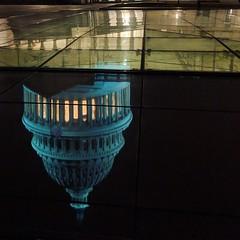 upside down world (ekelly80) Tags: dc washingtondc january2019 winter capitol capitolhill dome blue night lights evening walk reflection upsidedown