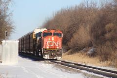 Flying South (recekasten) Tags: cn railroad ns signals wisconsin neenah medina junction 446 zebra beast eje bnsf