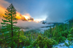 Yosemite! Colorful Clouds Sunrise! Yosemite National Park Winter Snow Tunnel View Bridalveil Falls El Capitan Snowy Rocks! Yosemite NP Dr. Elliot McGucken Fine Art Snow Photography!  Sony A7R II & 16-35mm F4 Carl Zeiss Wide Angle Lens! (45SURF Hero's Odyssey Mythology Landscapes & Godde) Tags: yosemite colorful clouds sunrise nikon d850 national park winter snow tunnel view bridalveil falls el capitan snowy rocks np dr elliot mcgucken fine art photography sony a7r ii 1635mm f4 carl zeiss wide angle lens high res 4k 8k photos