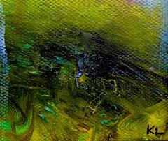 Texture (Ken-Zan) Tags: art painting duk canvas green kl kenzan ljunghav
