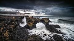 Gatklettur (petebristo) Tags: gatkletturarch iceland seascape windy sea