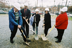 se center groundbreaking with shovel