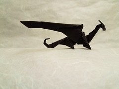 Origami dragon folded from 15cm folia paper (Matthew J. Dunstan) Tags: