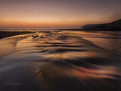 Well i`m drifting and drifting, just  like a ship out on the sea . (Through Bri`s Lens) Tags: devon northdevon croyde sunset stream water runoff light brianspicer canon5dmk3 canon1635f4 sea sand drfitwood