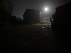 I'm just glad to get the ones i do (roadscum) Tags: england hertfordshire hoddesdon yard night dark foggy lorry daf cf pallets industrial