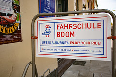 Driving school Boom (Rasande Tyskar) Tags: hamburg ottensen street boom driving school fahrschule schild sign
