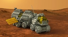 All Terrain Mobile Laboratory Rover (The Brick Artisan) Tags: classic space mobile lab classicspace neoclassic rover febrovery ground vehicle solar panel lego minifigure 40th anniversary terrain all