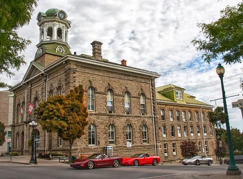 Brockville Ontario - Canada - Brockville City Hall - Heritage - Corvette Rally