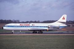 I-GISE Luton 7-1-1984 (Plane Buddy) Tags: igise sud caravelle altair ltn luton