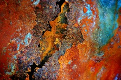 Planet Earth, 2019. (holly hop) Tags: mm macromondays macromonday redux redux2018 rust corrugatediron iron ironoxide orange tank macro abstract allnatural decay definingbeauty imperfection multicolour sedge808sfaves redearth space 1inch