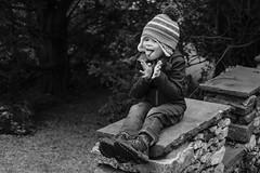 Arthur pulling faces (timnutt) Tags: sizergh sizerghcastle cumbria 35mm children garden xt2 bw acros monochrome lancashire mono fuji fujichrome family blackandwhite 35f2wr fujifilm