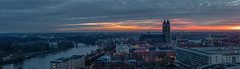 Panorama von der Johanniskirche (2019) (diwan) Tags: germany deutschland sachsenanhalt saxonyanhalt magdeburg city stadt place birdseyeview johanniskirche turm tower river elbe street buildings cathedral magdeburgerdom wolken clouds sonnenuntergang sundown outdoor roundabout panoramix panorama stitch perspective colors farben light lightroom hdr highdynamicrangeimage threesingleshots canonef70200mmf28lisusm canoneos5dmarkiv canon eos 2019 geotagged geo:lon=11640902 geo:lat=52130723