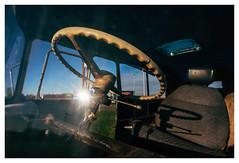 Abandoned Truck (jmvanelk) Tags: nikond610 nikkor2820mm steeringwheel truck abandoned amsterdam adm harbour sunlight reflection shadow