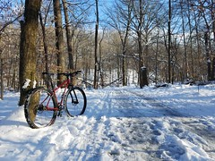 2019 Bike 180: Day 10 - SS Shutdown Snowride (mcfeelion) Tags: snow snowride cycling bike bicycle cct crosscountytrail annandaleva wakefieldpark winter bike180 2019bike180