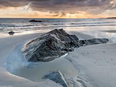 Dramatic light (Donard850) Tags: ardspeninsula ballywalter countydown irishsea northernireland beach dawn rocks sand sea rays crepusclar