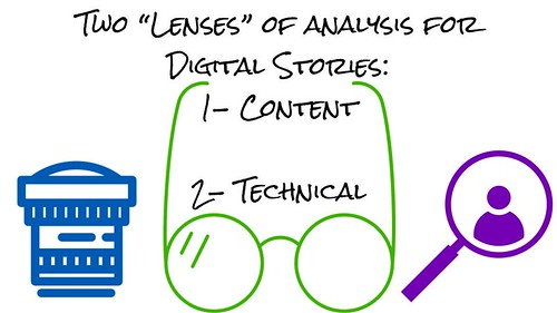 The lenses of analysis for digital stori by Wesley Fryer, on Flickr