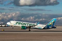 Frontier A320neo (dmeg180) Tags: nevada 70200mm d500 nikon runway mccarran lasvegas neo a320 airbus aircraft airplane airport
