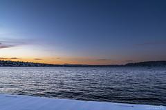 Snowy Sunset 1 (BobbyFerkovich) Tags: bristolsunsetrentonwashingtonlakewashington water clouds cold sonya7riii sonyimages