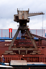 Rust (LowerThirdTierPhotography) Tags: boat ship shipping harbour port crane rust d7200 cityscape city