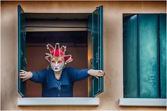 Happy Valentine's Day everyone ! (miriam ulivi) Tags: miriamulivi nikond7200 italia venezia casa house finestra window donnaconmaschera womanwithmask sanvalentino valentinesday