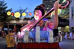 Chingay @ Chinatown (chooyutshing) Tags: decoratedfloat lightedup display rhapsodyinrhythm chingaychinatown eutongsenstreet chinesenewyear2019festival celebrations attractions peoplesassociation selectgroup peachgarden singapore
