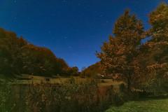 Otoño y luna llena - O Courel (Alphonso Mancuso) Tags: lugo galicia españa europa nocturna lunallena otoño robles green blue stars estrellas outside paisaje landscape alphonsomancuso canon10d sigma 18200 spain europe