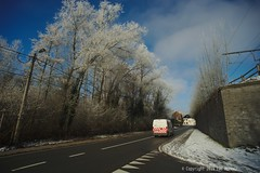 The Postman (Spotmatix) Tags: 1935mm a7 belgium brabantwallon camera countryside landscape lens places seasons snow sony sunny villerslaville winter zoomwide