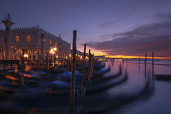 Venetian paths 146(San Marco life) (Maurizio Fecchio) Tags: venice venezia square san marco morning sunrise sky clouds lights sun gondola water sea city cityscape architecture famous place nikon d7100 atmosphere travel tranquility longexposure