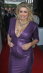 Leather Violet (Alaya Al-Chalifa) Tags: leather dress violet girl woman blonde party dorra rose smile bigbreasts