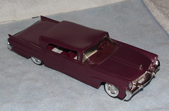 1958 Continental Mark III 4 Door Hardtop Promo Model Car - Claret Metallic (coconv) Tags: car cars vintage auto automobile vehicles vehicle autos photo photos photograph photographs automobiles antique picture pictures image images collectible old collectors classic promotional dealership plastic scale promo model smp amt mpc johan revell hubley 125 124 banthrico sample kit coupe history historical dealer toy miniature 125th 1958 continental mark iii 4 door hardtop claret metallic 58 lincoln purple true