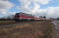 132 334 EBS Heringen (Helme) 11.02.2019 (Falk Hoffmann) Tags: diesellok triebwagen eisenbahn bahnhof sonderzug sonderfahrt ludmilla br132 br232 br6282 ebs