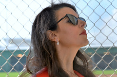 Linda Pizzuti Henry in the Red Sox Dugout at Spring Training (forestforthetress) Tags: lindapizzutihenry boston redsox bostonredsoxspringtraining springtraining jetbluepark fortmyers florida face hair woman female glasses baseball johnhenry unlimitedphotos