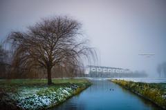 View on Empel (Ingeborg Ruyken) Tags: sneeuw morning empel 500pxs mist empelsedijk natuurfotografie fog instagram ochtend flickr snow