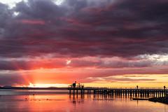 Mister Sun & Ladies Clouds (Cristiano Pelagracci) Tags: trasimeno sunset tramonto landscape paesaggi paesaggio water nature italy italia umbria colors color