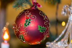 Christmas bauble and decorations on natural spruce tree (AudioClassic) Tags: tree christmas decoration celebration holiday ball ornament background bauble red new decor green festive xmas branch ornate bright color decorative shiny merry december fir year seasonal season design pine tradition shine greeting elegant border closeup traditional light wood object vintage gold celebrating spruce colorful celebrate retro golden blur decorated baubles sphere yellow holidays fragile blurred christmastree winter advent christmasornament christmaslights christmasdecoration newyear metallic holidaysandcelebrations nobody