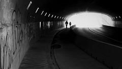 incoming (frax[be]) Tags: tunnel streetphotography street 23mm fuji silhouette urban highcontrast noiretblanc monochrome gloomy lowkey blackandwhite bnw bw noir dark