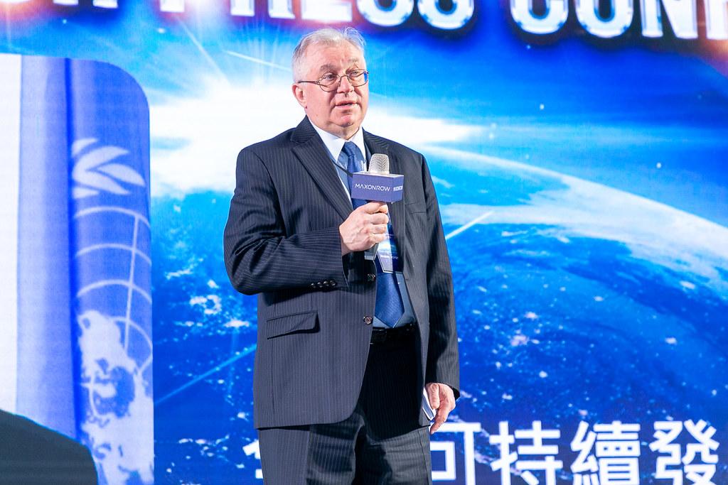 全球可持續發展競爭和治理組織副主席Andrey Abramov出席「陽光區塊鏈Maxonrow全球啟動記者會」,代表全球173個國家支持Maxonrow立足台灣。