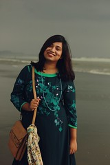 Sushmita (ainulislam) Tags: woman moody colour wind fineart nikkor dhaka bangladesh canon 50mm f14 14 colours female women femme portrait outdoor red hair smile blackandred people