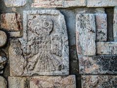Parrot Relief on Great Pyramid at Uxmal (T. Christensen) Tags: parrot symbology uxmal pyramid maya mayan ruins