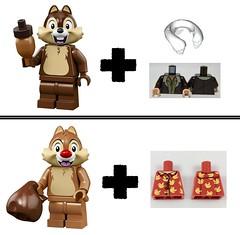 lego Chip & Dale Rescue Rangers minifigures (concept) (KaijuWorld) Tags: lego moc custom chip dale minifgures rescue rangers disney concept ldd